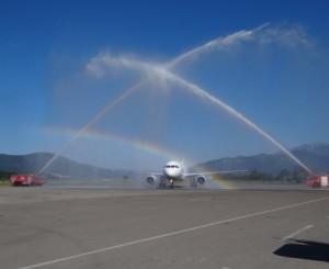 Салют в Тиватском аэропорту