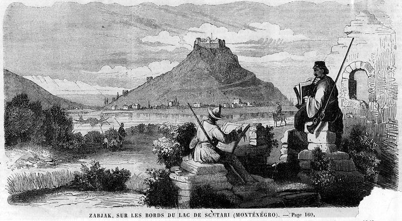Чертеж Жабляка Црноевича из 1860 года