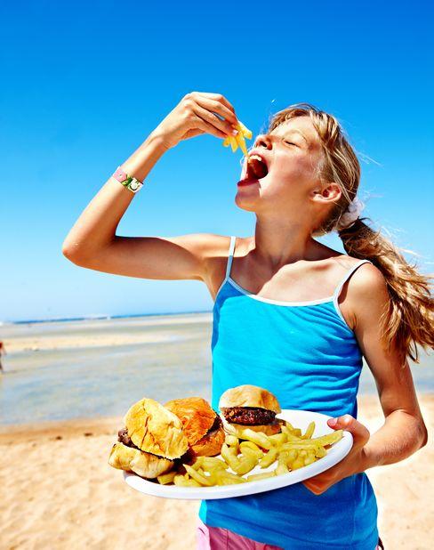 еда на побережье