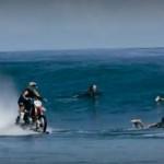Мотоцикл по воде 00004