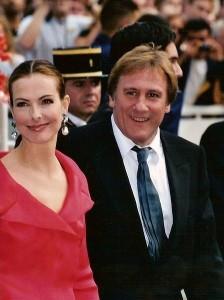 Carole Bouquet abd Gérard Depardieu.