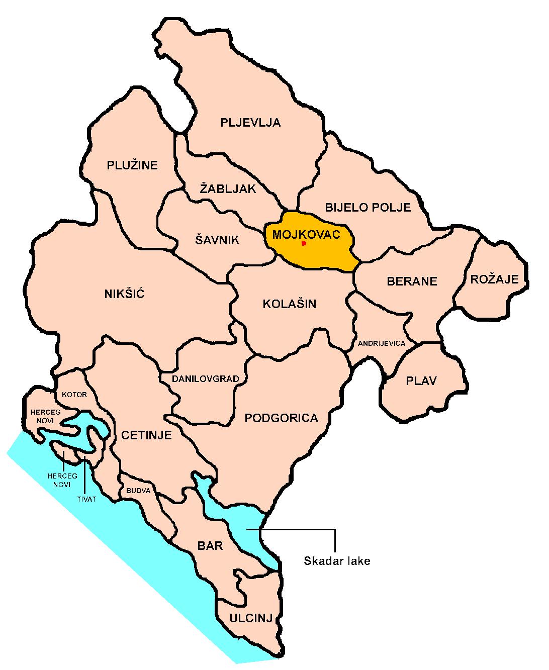 Mojkovac-Position
