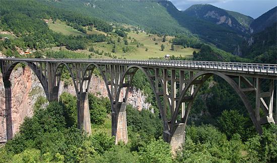Железная  дорога в Черногории, мост Тара