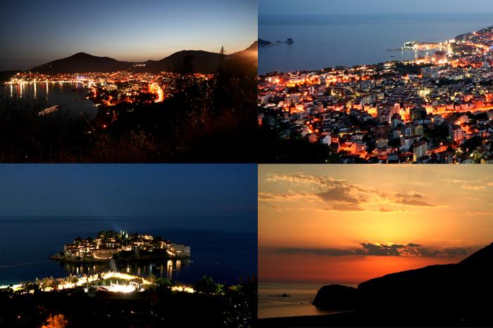 Ночная Будва Черногория,